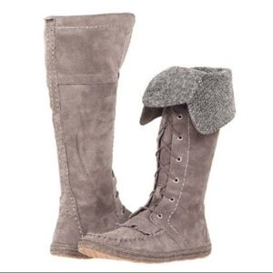 Somaya Lace-Up Genuine Sheepskin Moc Boot